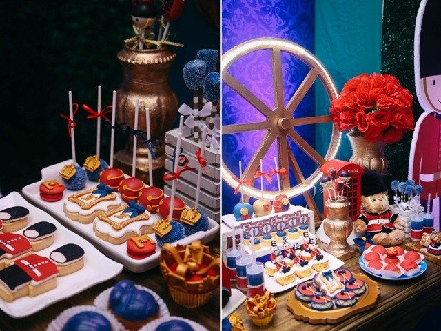 Elis Royal London Themed Party Desserts