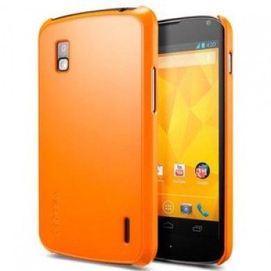 Forro Nexus 4 Spigen SGP Case Ultra Thin Air Series - Naranja Tango