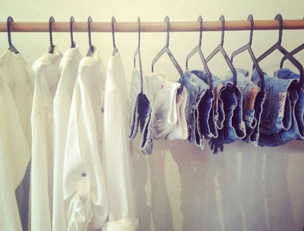 BOSTLIMITED.COM #vintage #denim #blouses #tops #white #cream #blue #denim