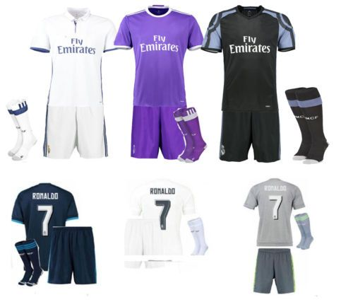 14/15/16 #football #soccer #ronaldo 7 jersey kits short sleeve boys team suit+soc,  View more on the LINK: http://www.zeppy.io/product/gb/2/142144024843/