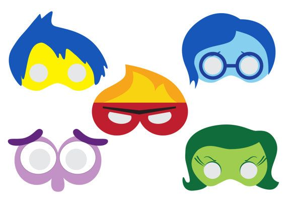 Inside Out Printable Masks by DreArts on Etsy