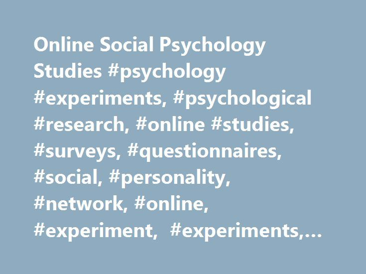 100+ Psychology Soical Experements – yasminroohi