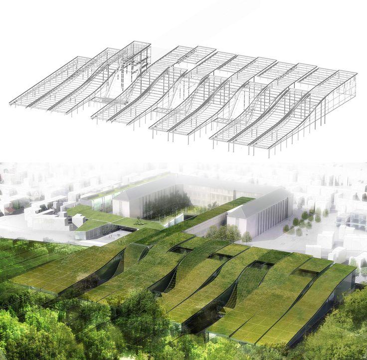 Marcel Sembat High School - Archi5, located in Scotteville les Rouen, France.