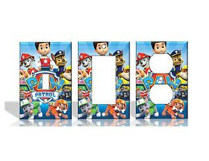 Paw Patrol Chase Rider Marshall Skye Light Switch Covers Home Decor Outlet