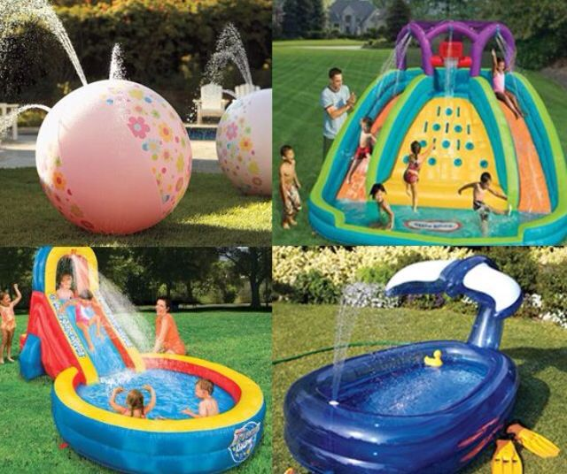 Water Park Party Take Advantage Of The Warm Weather And Create A In Your Own Backyard Buy Borrow Or Rent Inflatable Toys That Spout