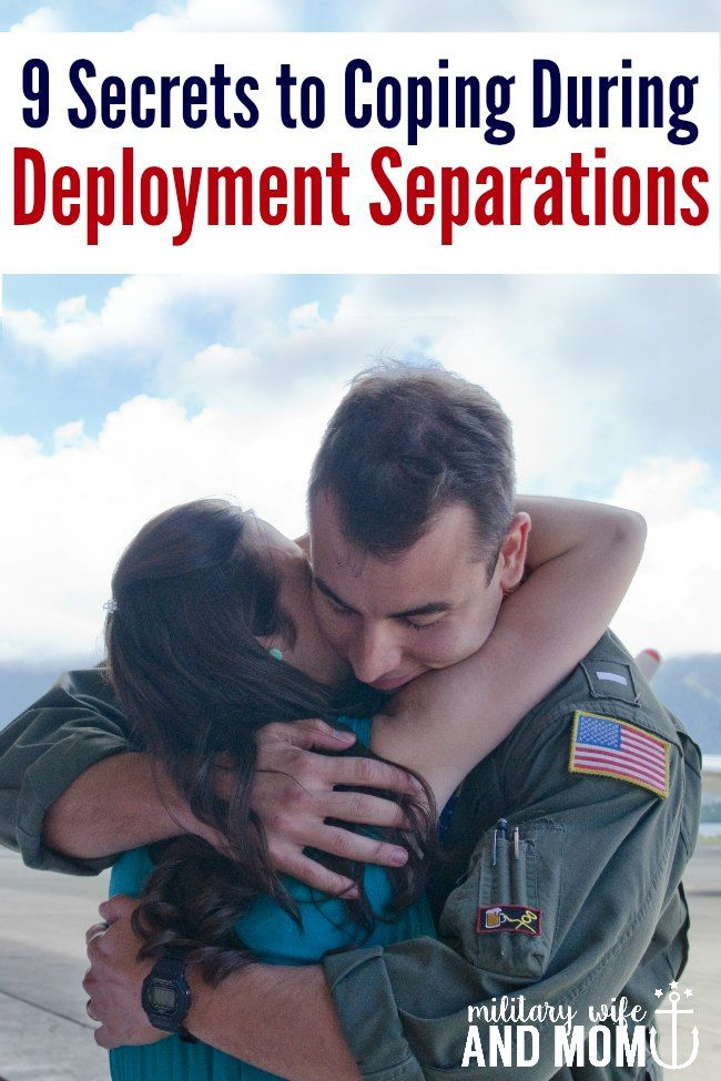 Coping during deployment separations...LOVE these 9 tips!
