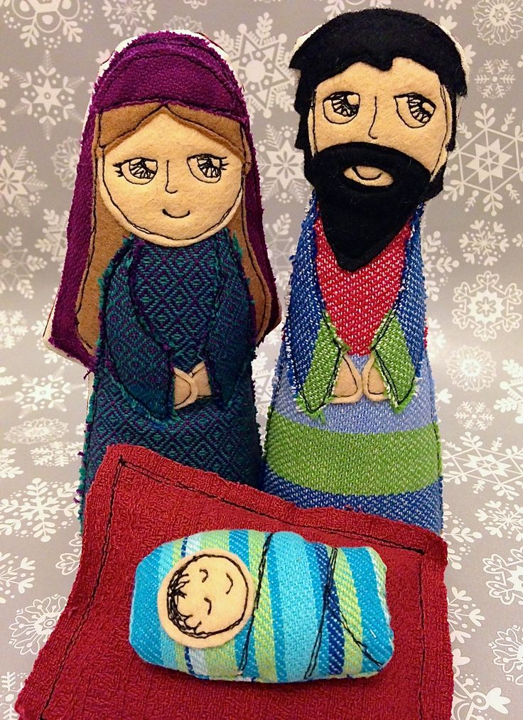 Nativity Set - Free motion embroidery
