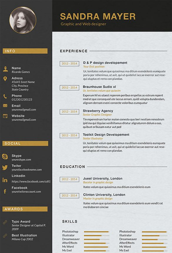20 best CV images on Pinterest Cv design, Cv examples and Ideas para - graphic designer resume examples