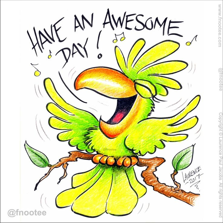 Hope u have an awesome day!!! 🐦🎶🎵🌞🌟🌟🌟🌟