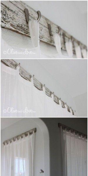 Gordijnen anders opgehangen… Open schuiven wordt een beetje lastig, dat wel.