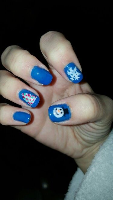 Right hand Christmas nails 2015