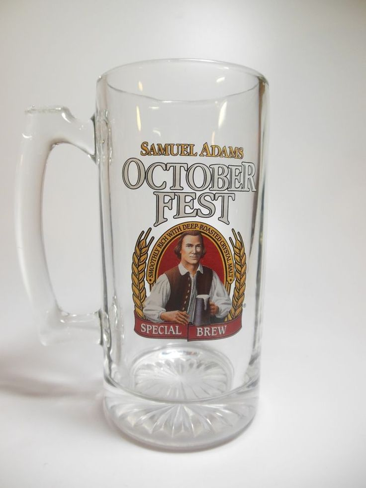 Samuel Adams Octoberfest Special Brew Glass Stein 24 oz. EUC!