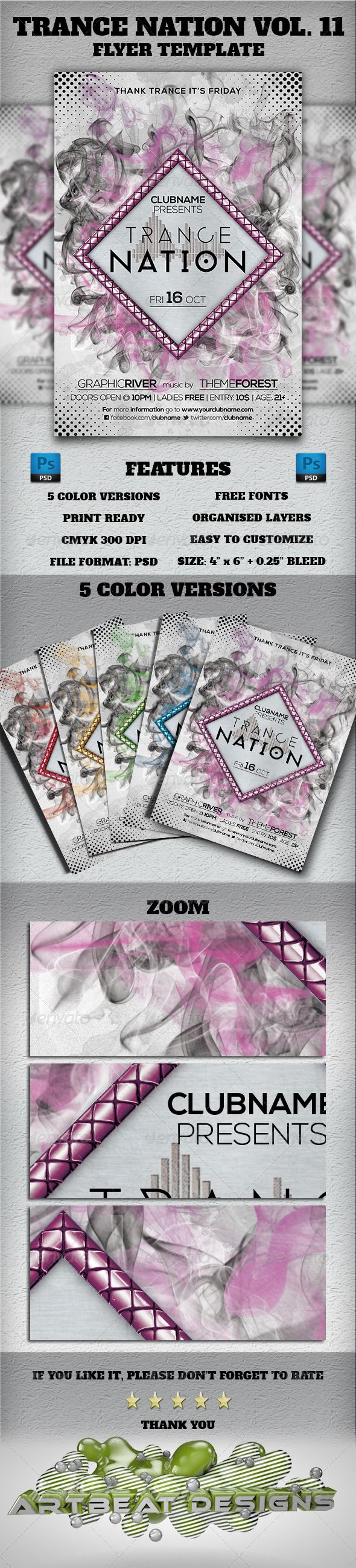 Trance Nation Vol. 11 Flyer Template