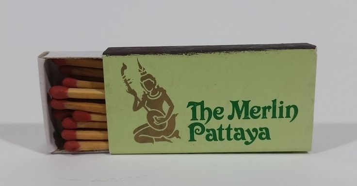 The Merlin Pattaya, Cholburi, Thailand Souvenir Promo Wooden Matches Box - Nearly Full https://treasurevalleyantiques.com/products/the-merlin-pattaya-cholburi-thailand-souvenir-promo-wooden-matches-box-nearly-full #TheMerlinPattaya #TheMerlin #Pattaya #Beach #Resort #Cholburi #Thailand #Souvenirs #Promo #Promotional #Matches #MatchBoxes #MatchPacks #Travel #Tourism #Collectibles