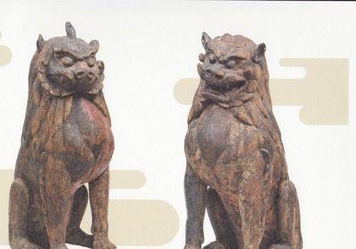 滋賀県若松神社 獅子・一角狛犬