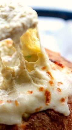 Hot and Cheesy Jalapeno Artichoke Dip in a Bread Bowl