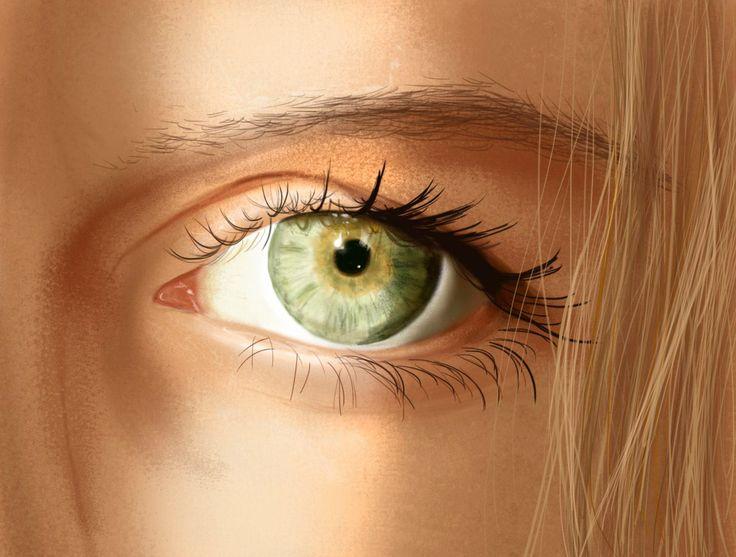 Digital Drawing of my eye. #photoshop