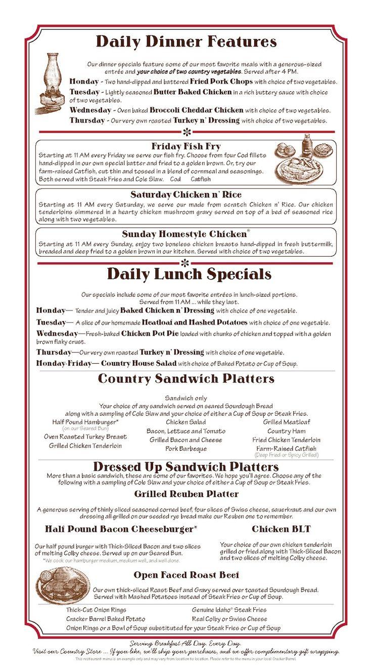 Deals menu