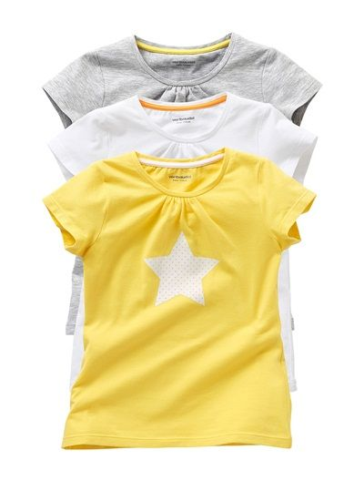Pack of 3 Girl's Short-Sleeved T-Shirts - La redoute £6.30