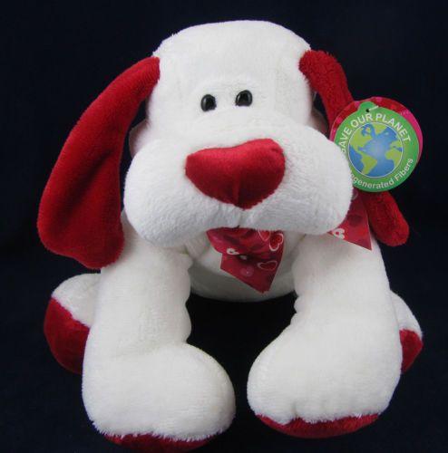 Walmart Toys Puppy : Walmart white plush stuffed puppy dog animal red heart