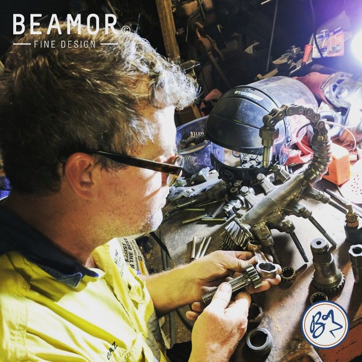 The look of concentration. We love the challenge of a custom job.  #metalart #interiordesign #customdesign #upcycle #scorpion #etsystore #beamorfinedesign #findamaker