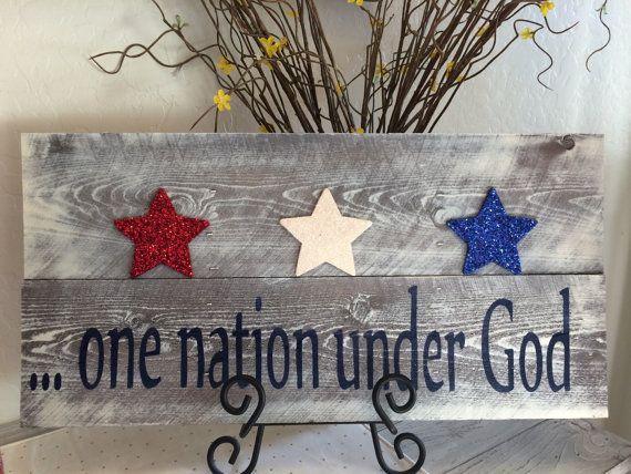 One nation under God pallet sign