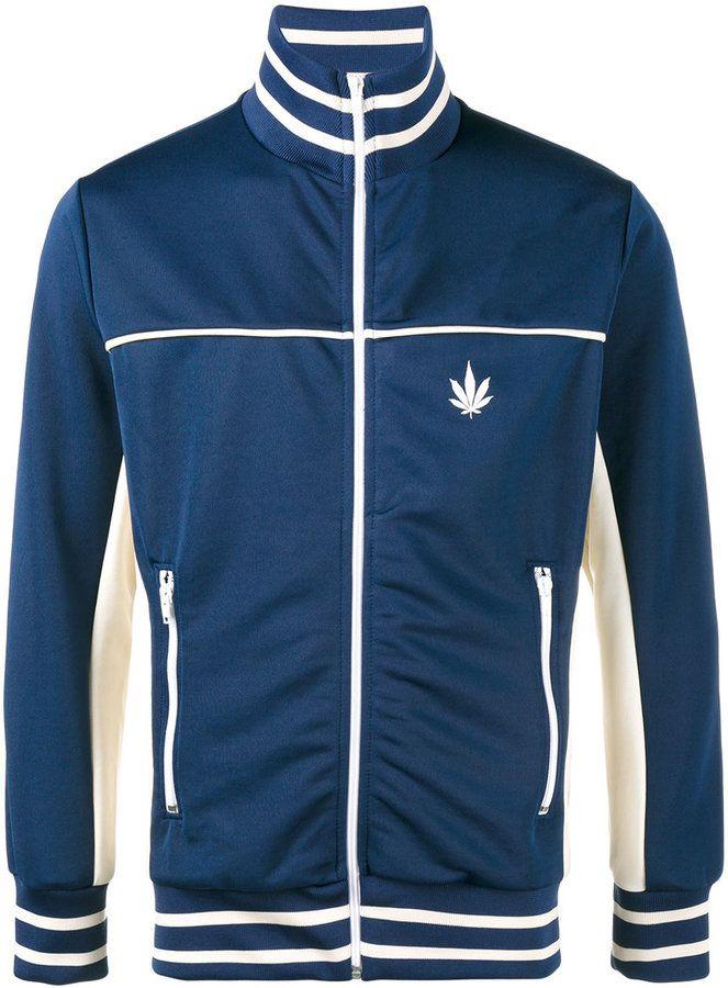 Palm Angels Weed stripe track jacket