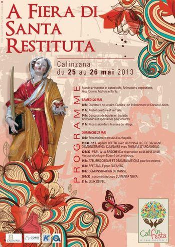 Fête de Sainte Restitude 2013 à Calenzana / Corse. Du 25 au 26 mai 2013 à Calenzana.