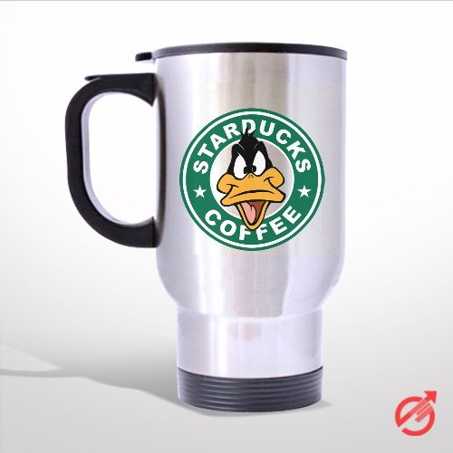 StarsDuck Coffee Daffy Duck Face Cartoon Travel Mug