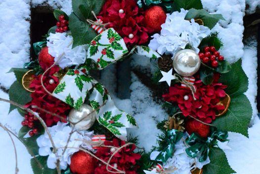 """Рождественский венок """"Новогодний фейерверк"""""""