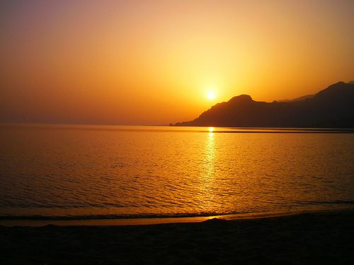 Plakias is a small resort, fishing village on the Southwest of Crete, Greece and produces glorious sunsets, like this!!!