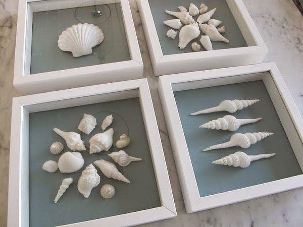 Aventura de Decoração: Decorar com Conchas, Corais e Estrelas do Mar.
