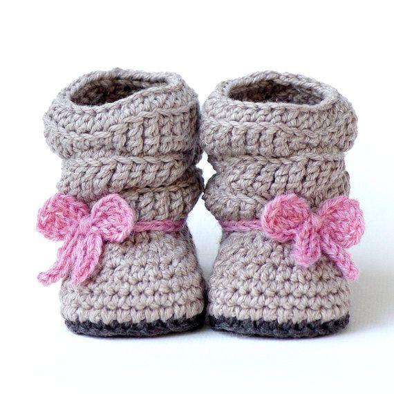 Bottines au crochet pour bébé                                                                                                                                                                                 Plus