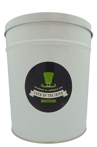 St. Patrick's Day Gourmet Popcorn Tin #6 - 3.5 Gallon