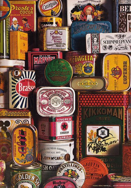 Collecting vintage tin packaging is a hobby of mine, old tins, rice bags, anything with a story and history behind it - I find inspiration in the typography and colour palettes.