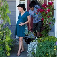 Buy Womama Birth Wrap Dress in Blue | Nurtured By Nature Size 12/14