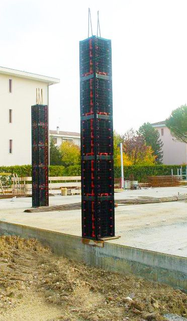 GEOTUB PANEL the #plastic_formwork for the creation of #square_columns and #rectangular_columns