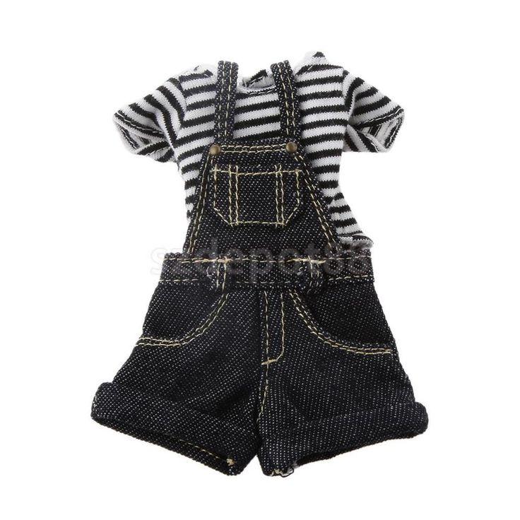 Black Stripe T-Shirt Jeans Jumpsuit Clothing For Kurhn Neo Blythe 1/6 Dolls #Unbranded #ClothingAccessories