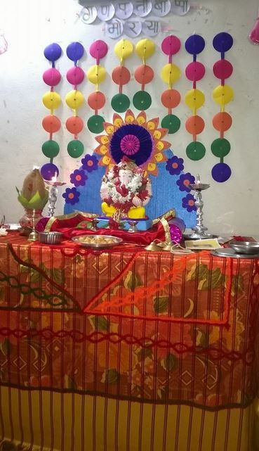 265 Best Decoration For Pooja Images On Pinterest Ganapati Decoration Festival Decorations