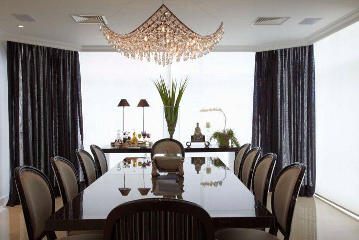 Cortina Para Sala De Jantar Moderna Cortinas Para Sala Decoracao Da Sala De Jantar Salas Retangulares