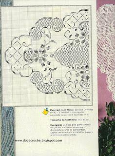 Doce Crochê: centro de mesa ~ exquisite lace design