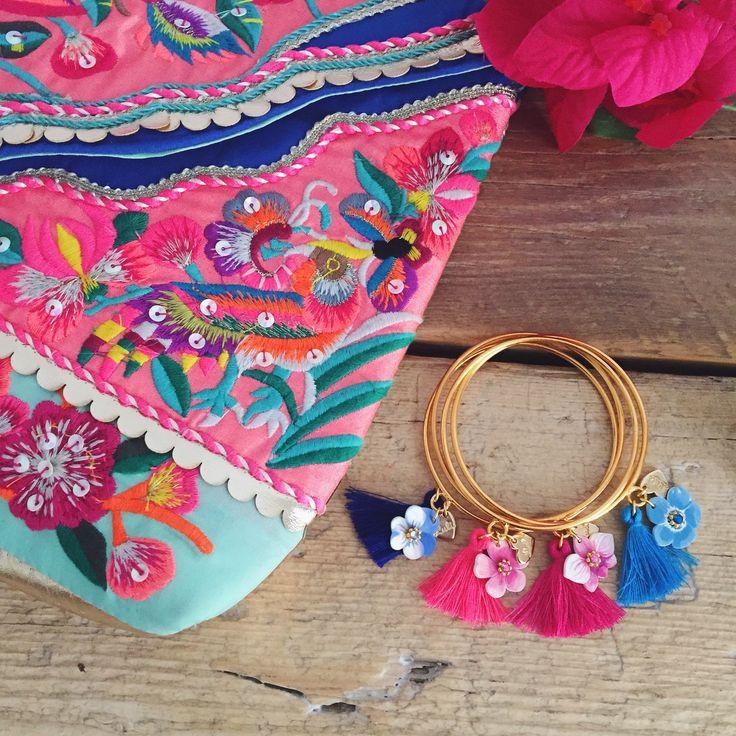 "Nuovi bracciali ""Gypsy Flora"" by LULI Art Bijoux. Per completare i vostri look estivi con un tocco bohèmien. Shop online su http://shop.luliartbijoux.com/product/bracciale-gypsy-flora"