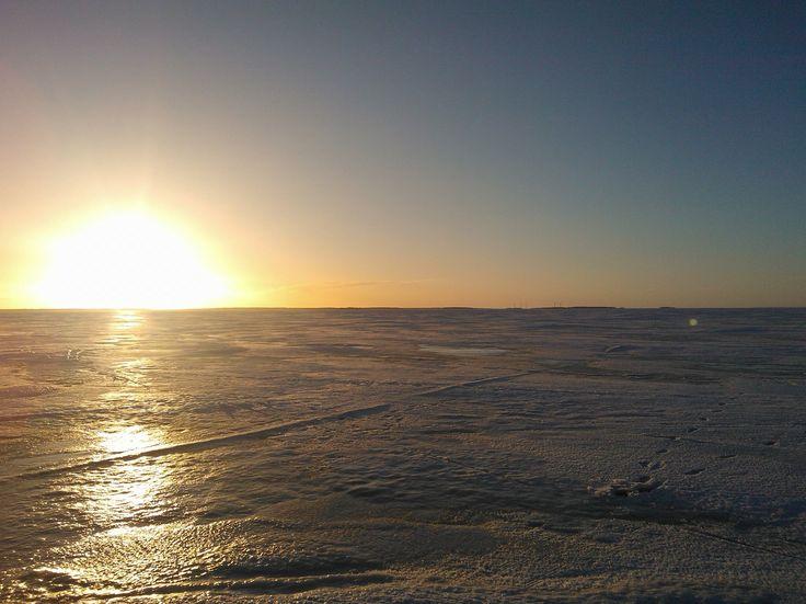 Nallikari Beach in winter, Oulu, Finland. Photo: Mauri Kuorilehto (7.2.2015).