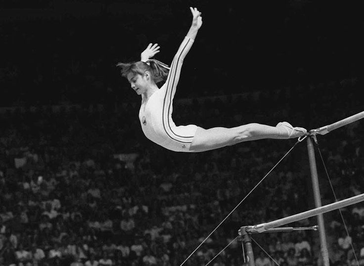 Nadia Comaneci who at age 14 was the first Olympic gymnast to get a perfect 10.0 1976