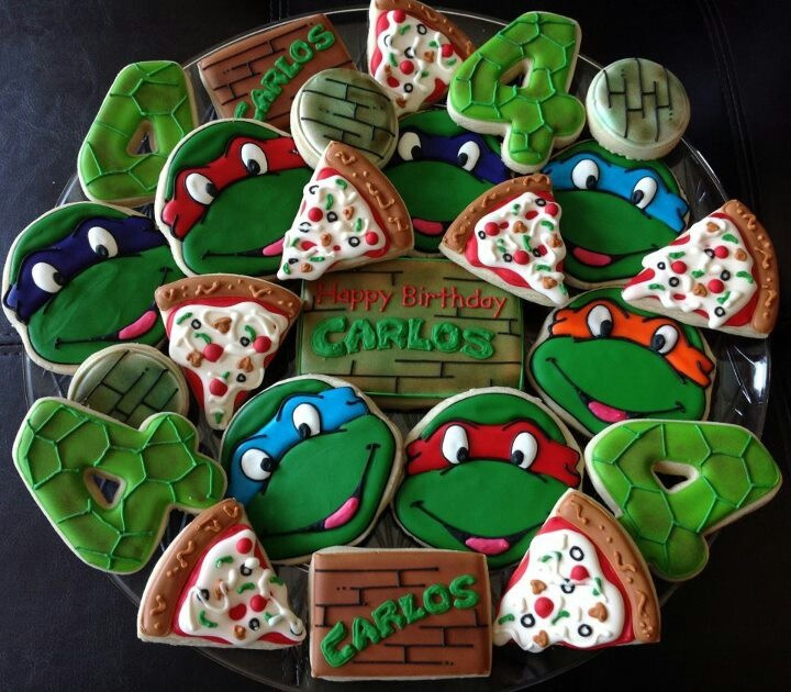 L0VE!<3Ninja turtles Cookies!!<3 I wanna make ninja turtle cookies && cupcakes with my boys <3
