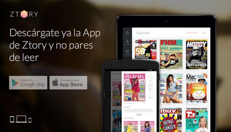 ¿Ya tienes plan para el #FindeSemana? ¡Estés donde estés llévate tus #revistas preferidas contigo con la última versión de la #app de Ztory y no pares de leer! Disponible en la #PlayStore para #Android y en la #AppStore para #iOS. #FelizLectura ;)