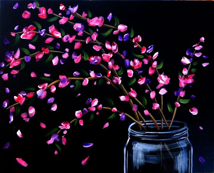 25 best ideas about black canvas paintings on pinterest for Acrylic painting on black background