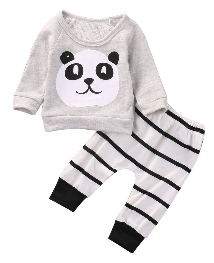 This Panda And Stripes Set is perfect to keep your little one warm on a cold weather!  Available for 0-18 months. Get them here  https://petitelapetite.com/products/panda-and-stripes-set