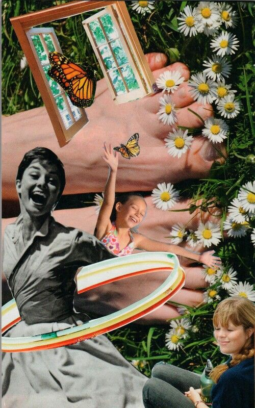 Joy in the Moment - soul collage