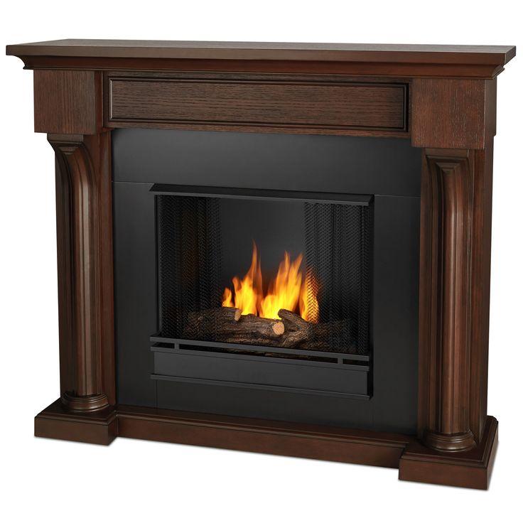 Real Flame 5420-CO Verona Ventless Gel Fireplace in Chestnut Oak - Chestnut Oak (Wood)